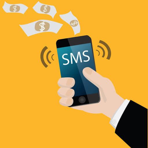 Ilustratie microplata prin SMS