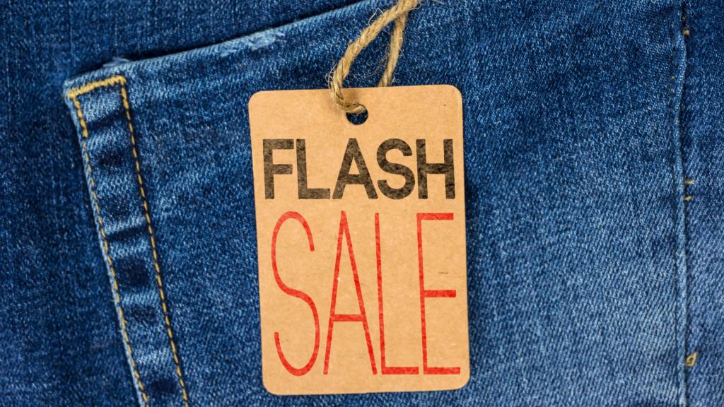 Ilustrație specifică campaniilor de tip flash sale